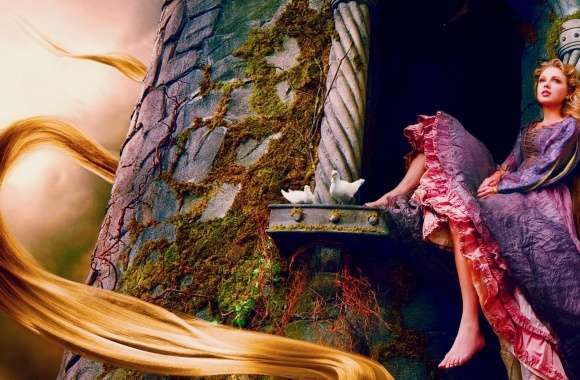 Taylor Swift As Rapunzel wallpapers hd quality