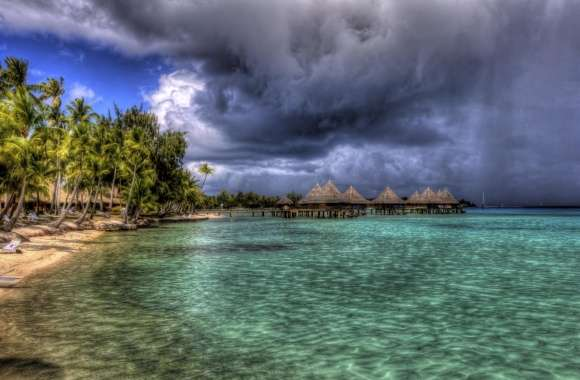 Water Bungalows HDR