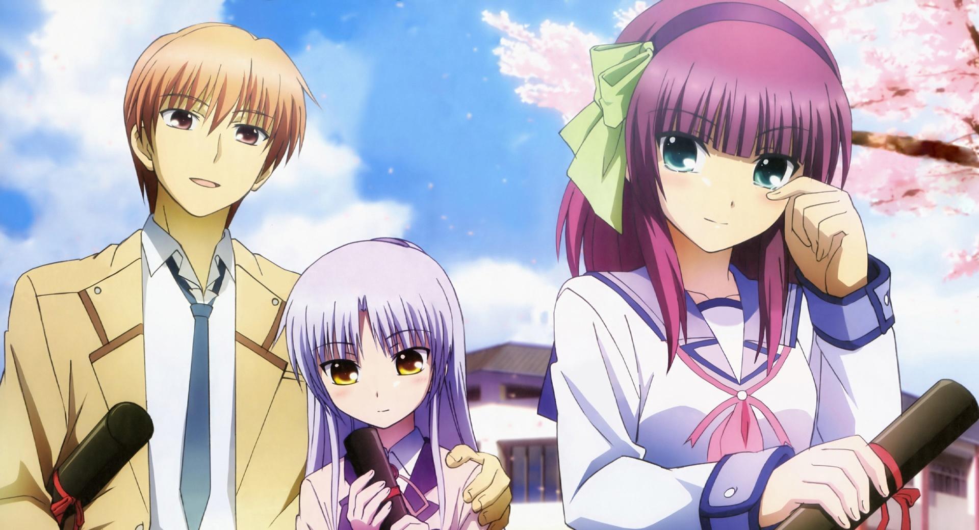 Angel Beats - Otonashi, Yuri and Angel wallpapers HD quality