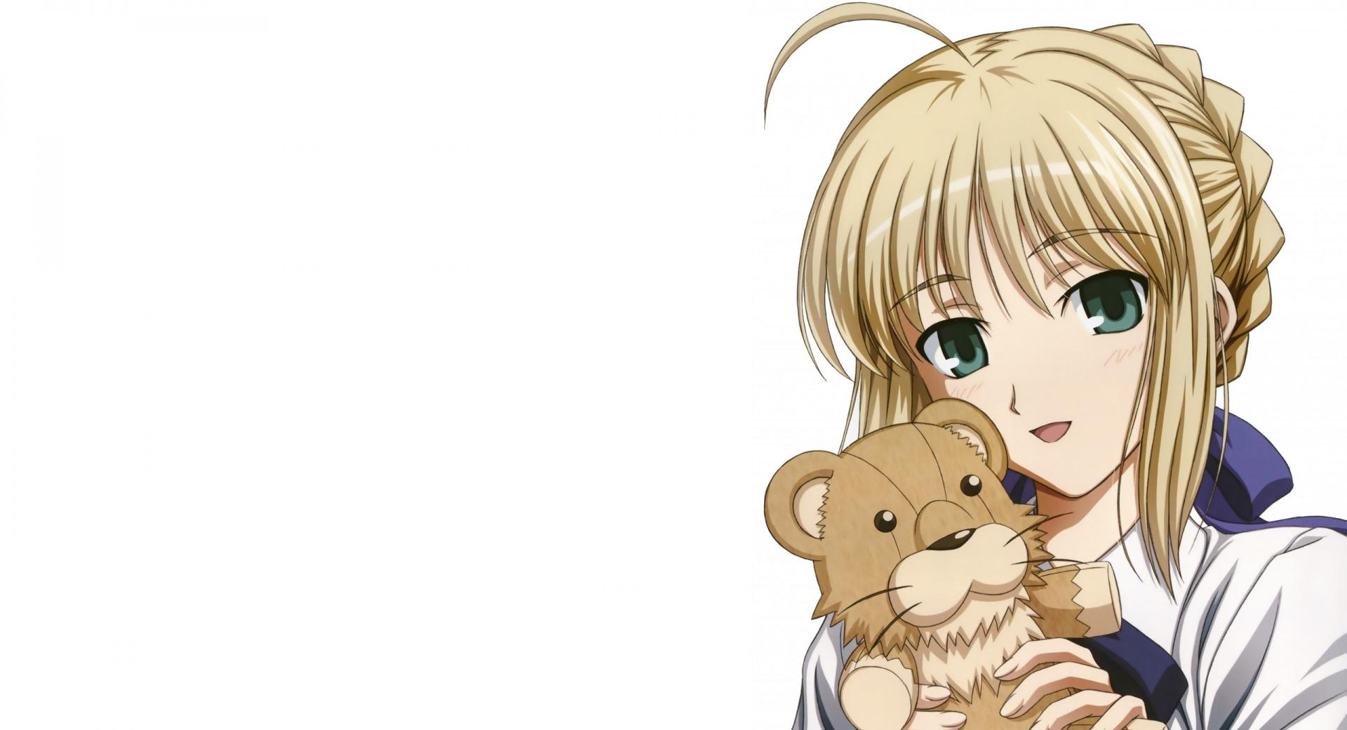 Anime Girl With A Lion Toy wallpapers HD quality