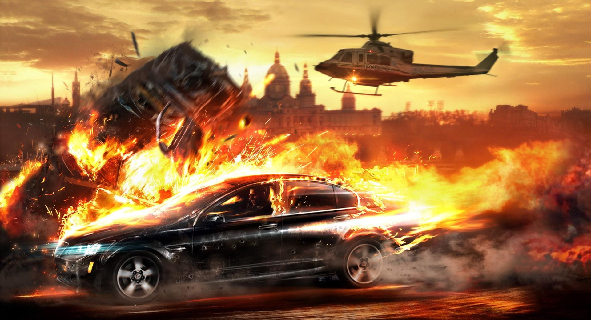Car On Fire wallpapers HD quality