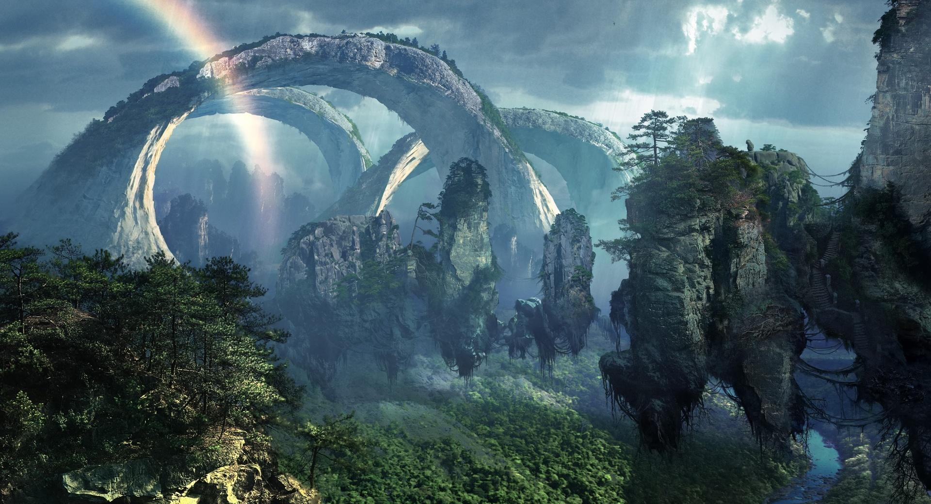 Flying Mountains Of Pandora wallpapers HD quality