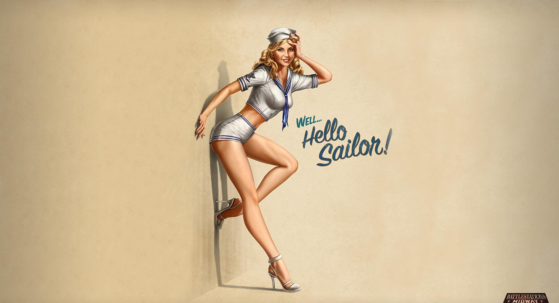 Hello Sailor! Pin-Up Style wallpapers HD quality