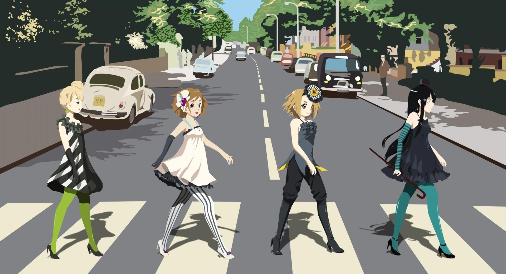 K ON! Yui, Mio, Ritsu And Tsumugi wallpapers HD quality