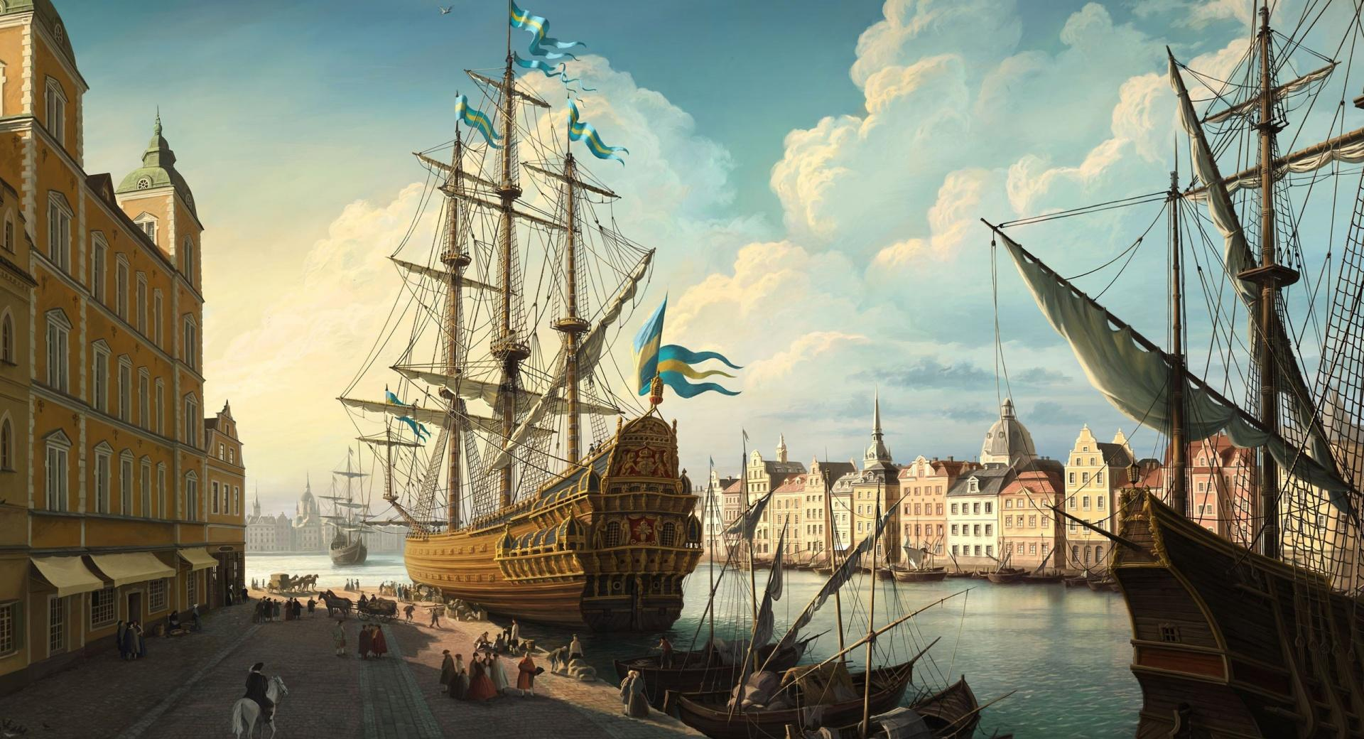 Port Painting wallpapers HD quality