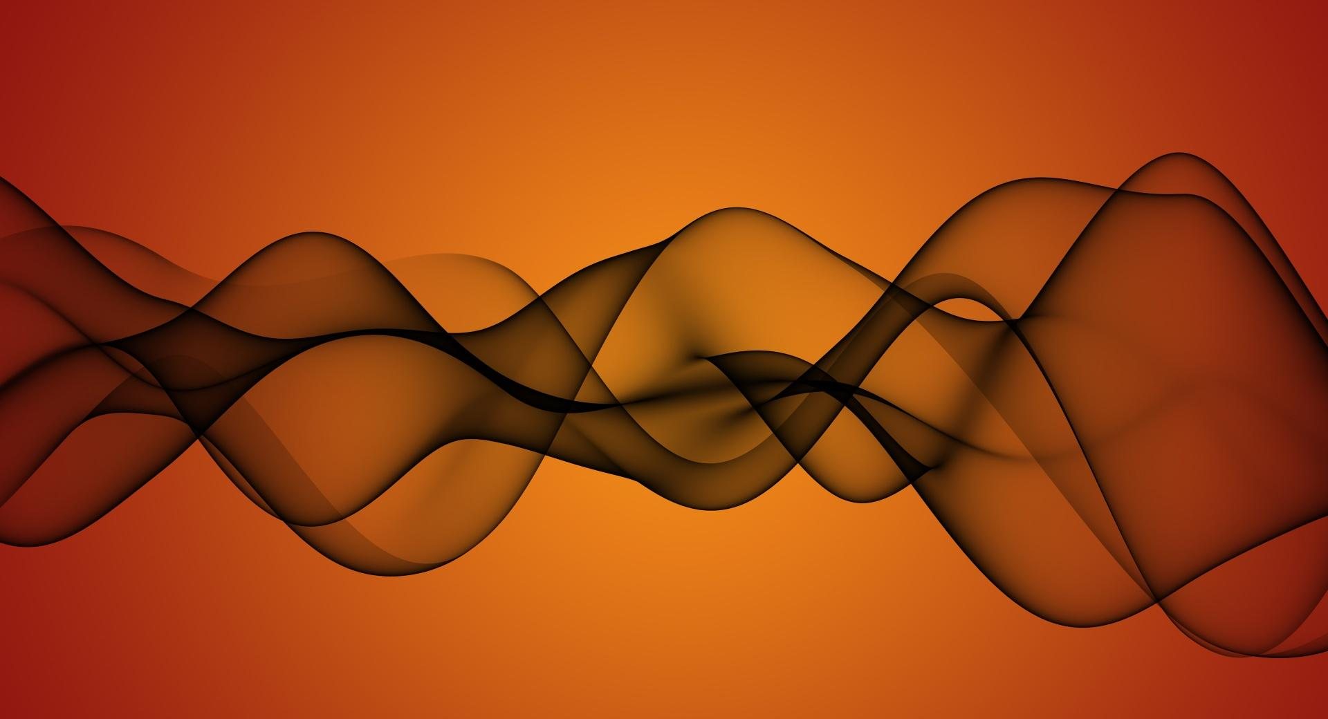 Transparent Waves On Orange Background wallpapers HD quality