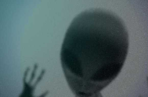 Alien Behind Glass