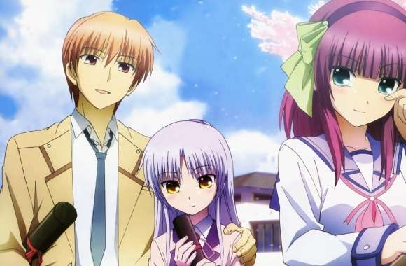 Angel Beats - Otonashi, Yuri and Angel