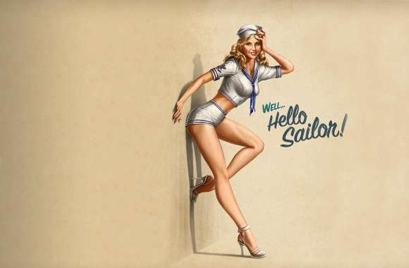 Hello Sailor! Pin-Up Style