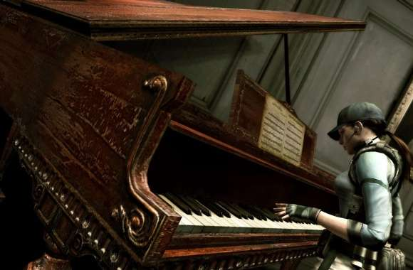 Resident Evil Jill Playing Piano