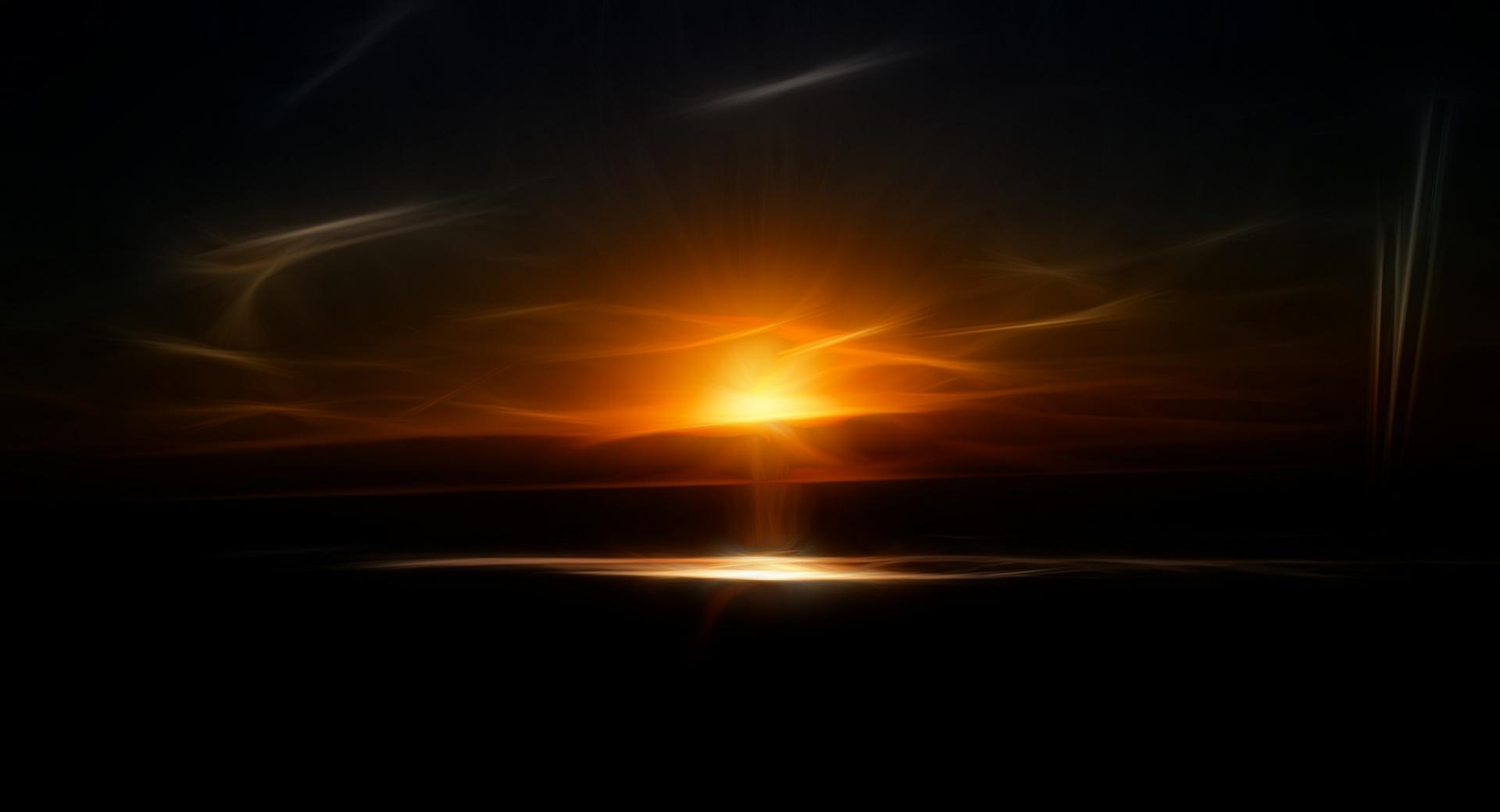 A Fractal Sundown wallpapers HD quality