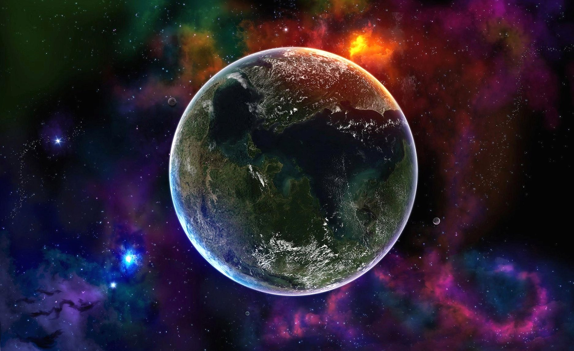 Alone earth in space wallpapers HD quality