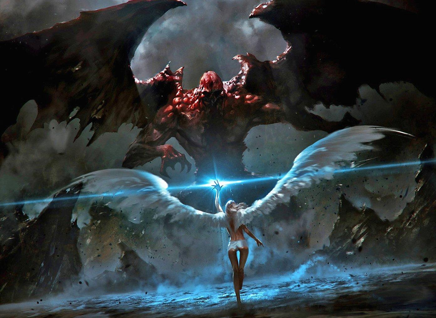 Angel vs horrible diablo wallpapers HD quality