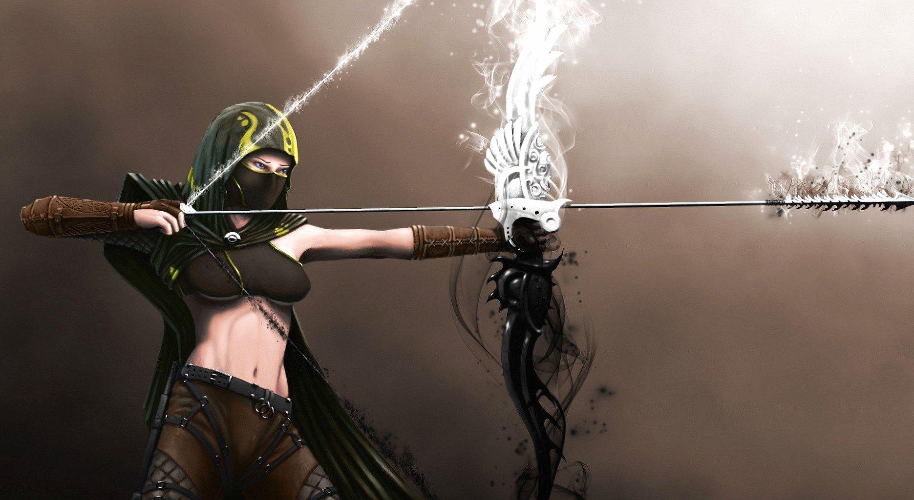 Arcier woman fantasy wallpapers HD quality