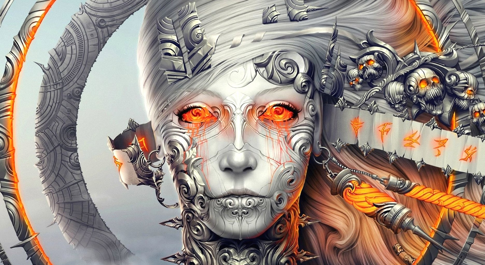 Artificial woman giger style wallpapers HD quality