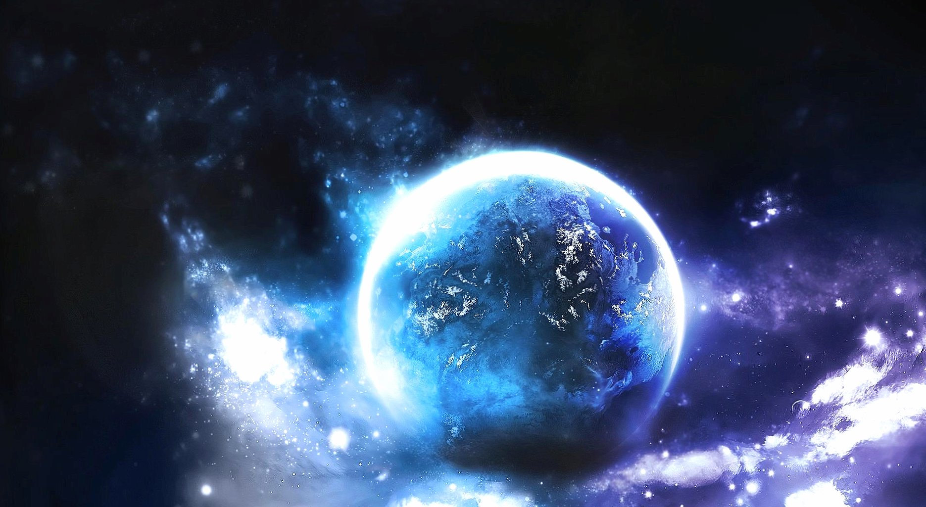 Azure planet wallpapers HD quality