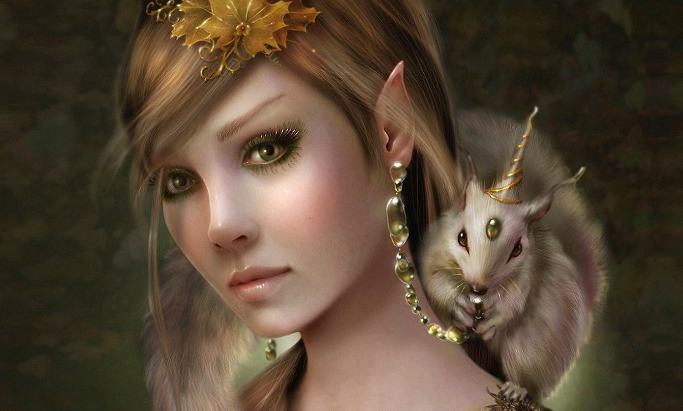 blonde fairy and little creature wallpapers HD quality