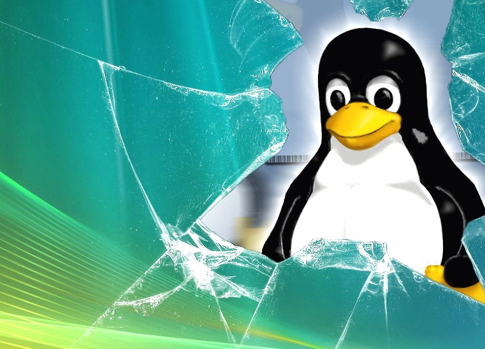 Broken glass linux wallpapers HD quality
