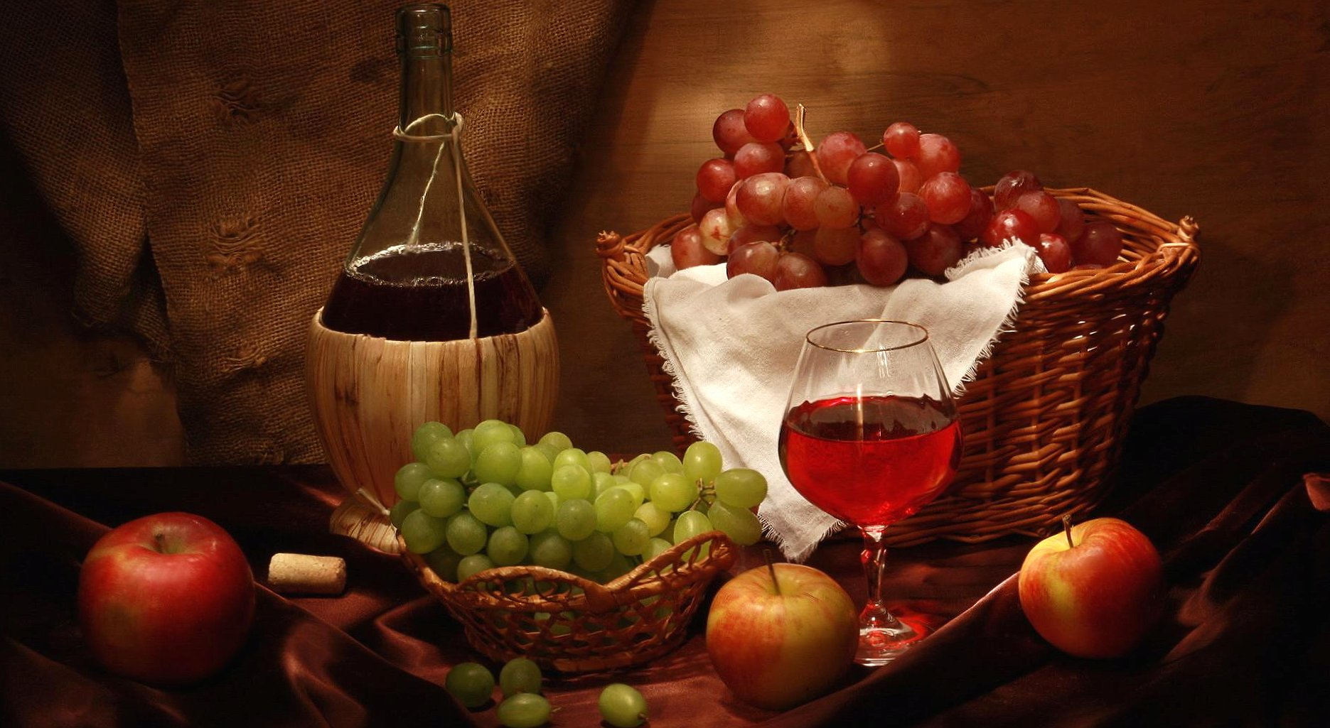 cellar wine grapes at 640 x 960 iPhone 4 size wallpapers HD quality