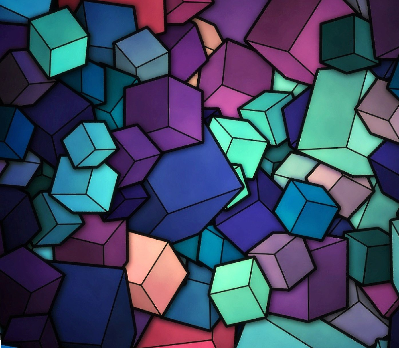 Colorful cubes wallpapers HD quality