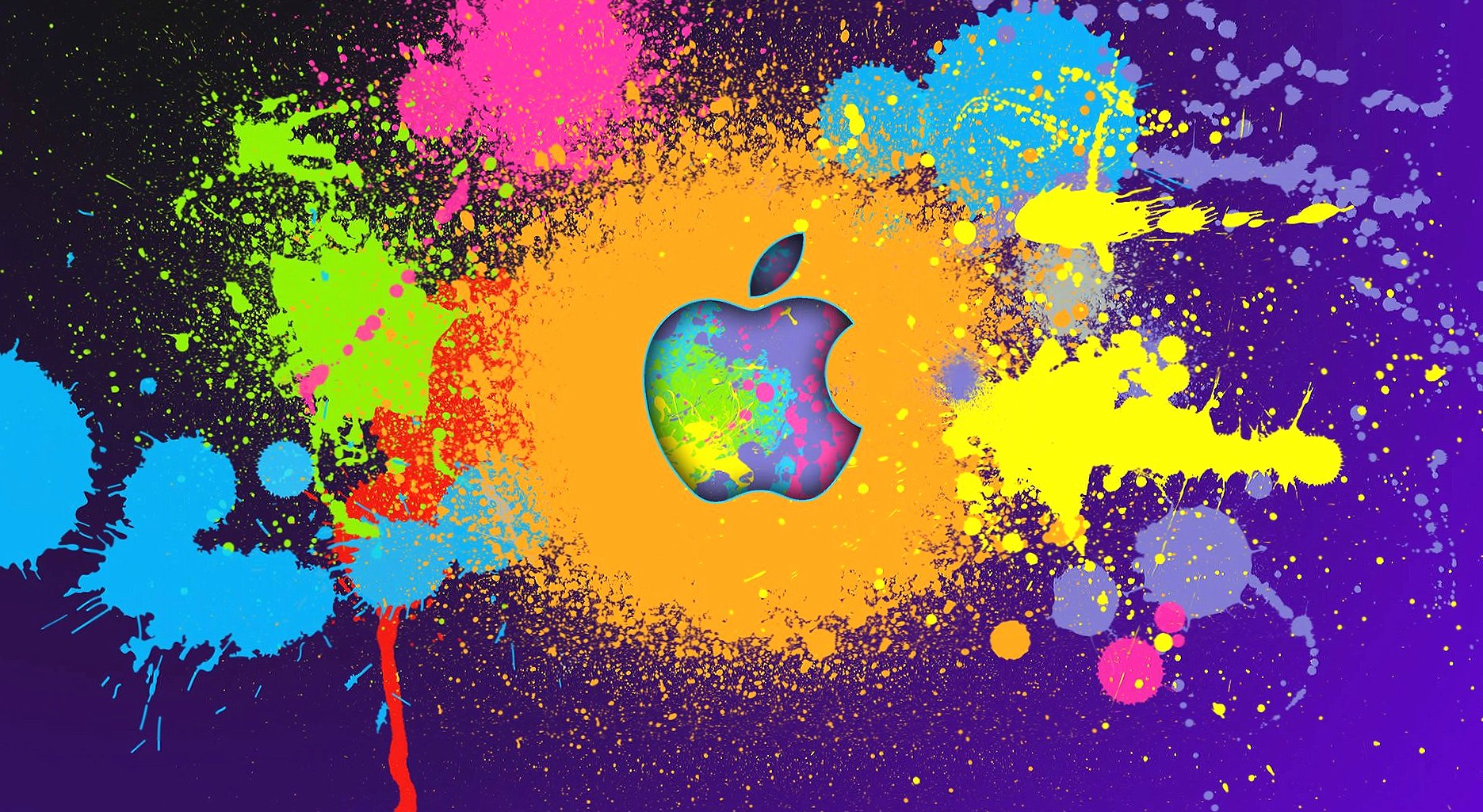 Colour spotted apple wallpapers HD quality
