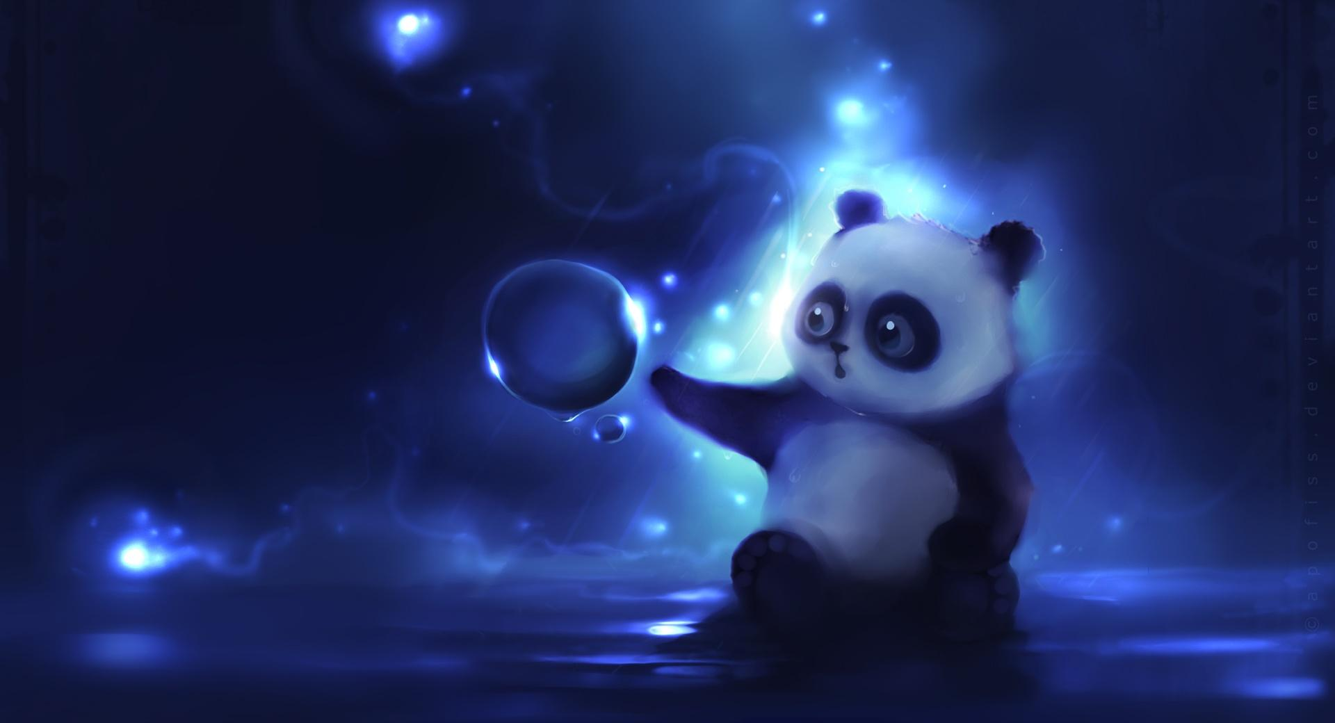 Curious Panda Painting wallpapers HD quality