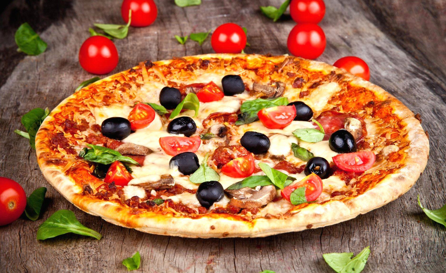 delicious pizza wallpapers HD quality