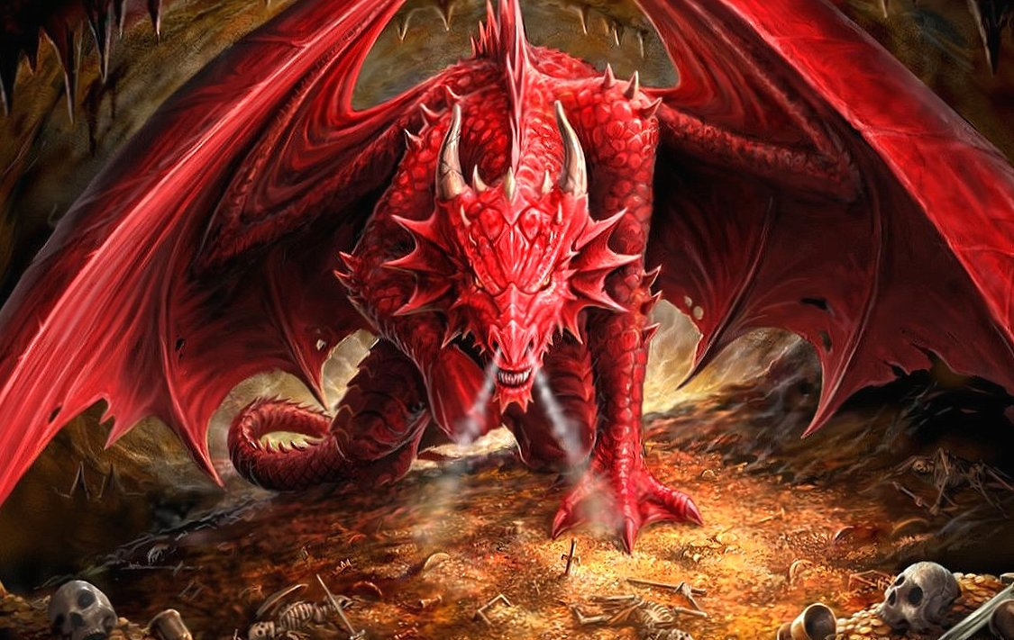 Dragon red at 2048 x 2048 iPad size wallpapers HD quality