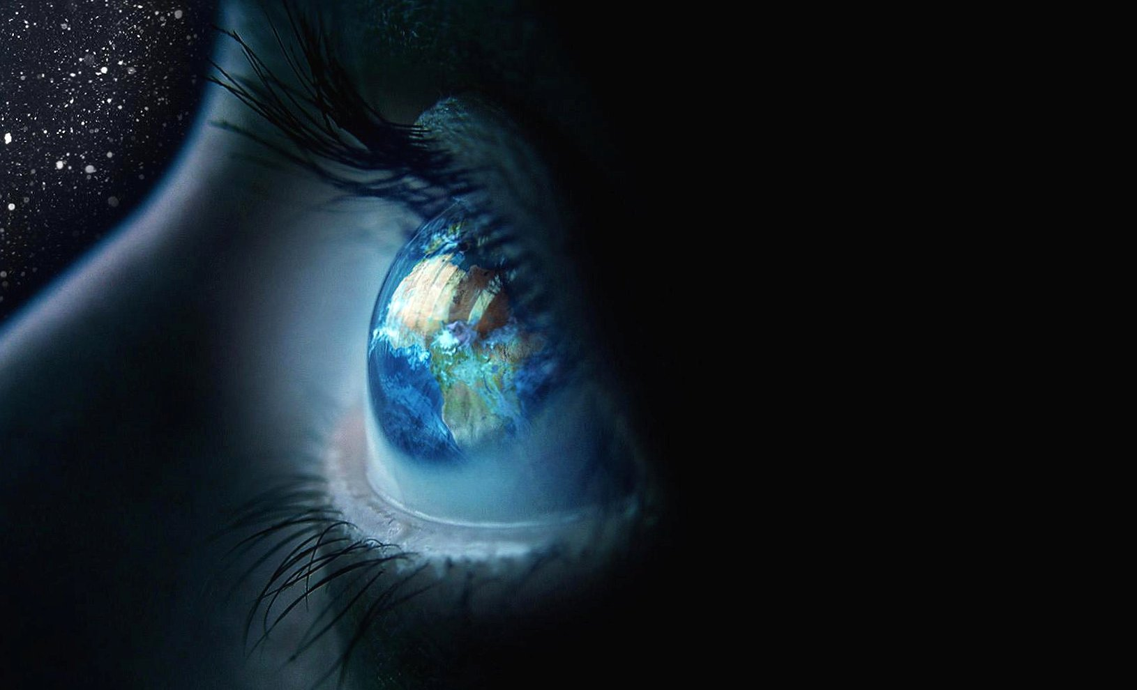 Eye in the space photoshop effects wallpapers HD quality