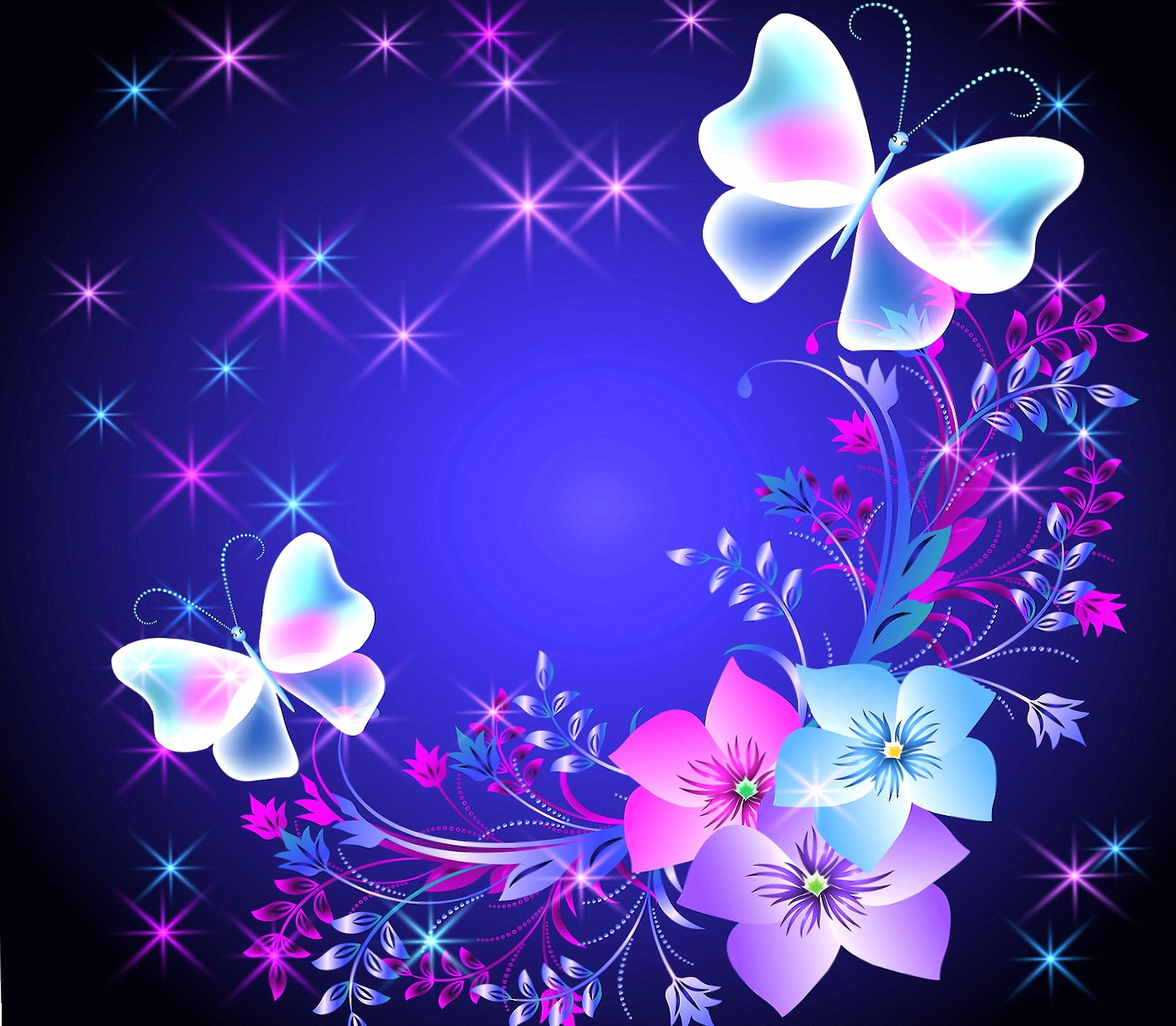Floral Butterflies wallpapers HD quality