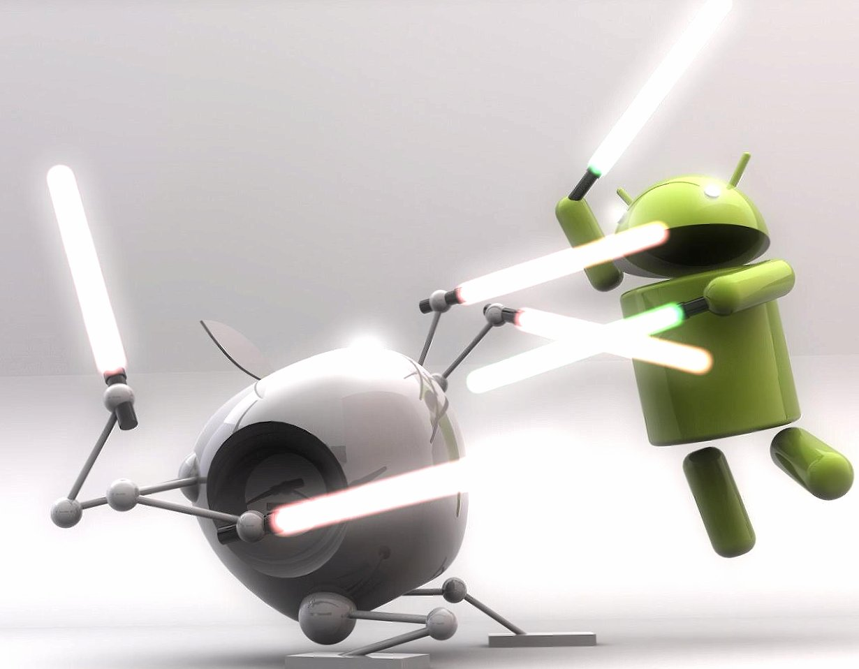 Funny android vs apple wallpapers HD quality