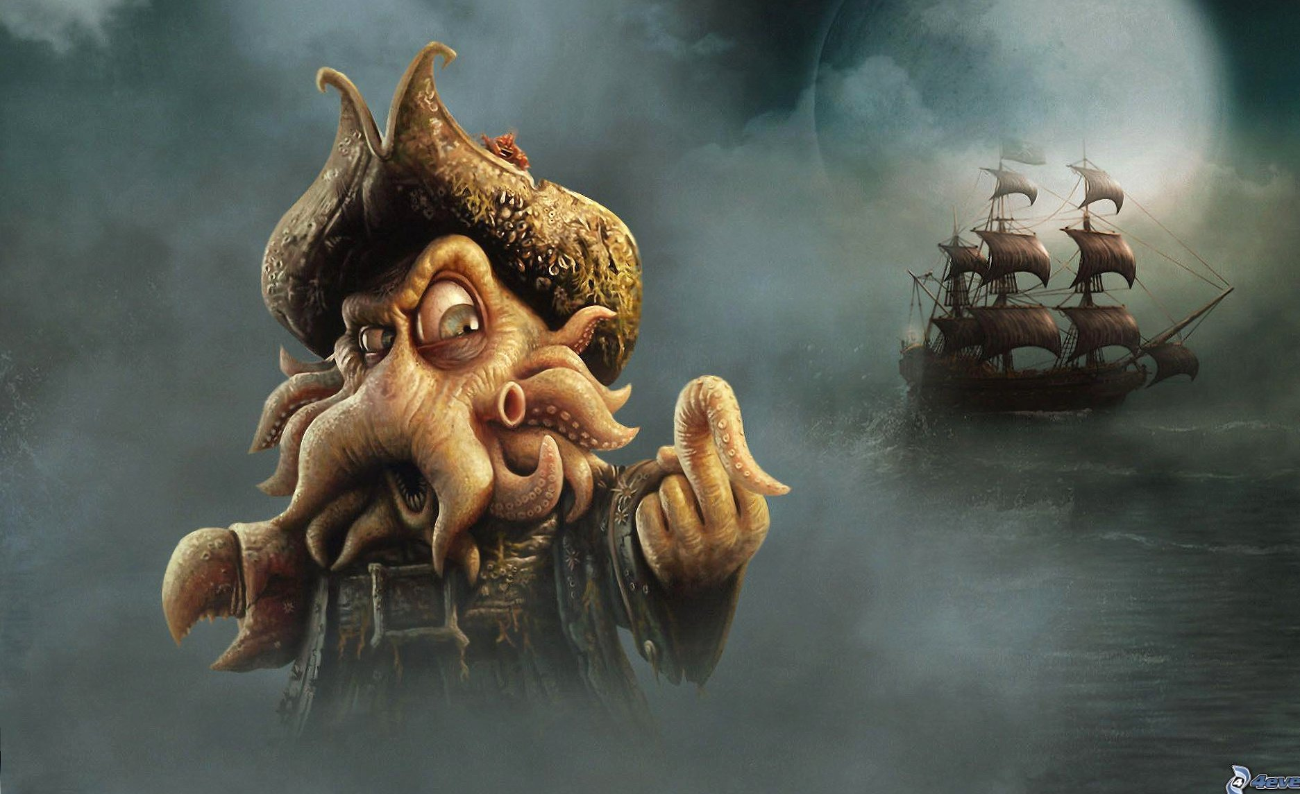 Funny carribean pirates caricature wallpapers HD quality