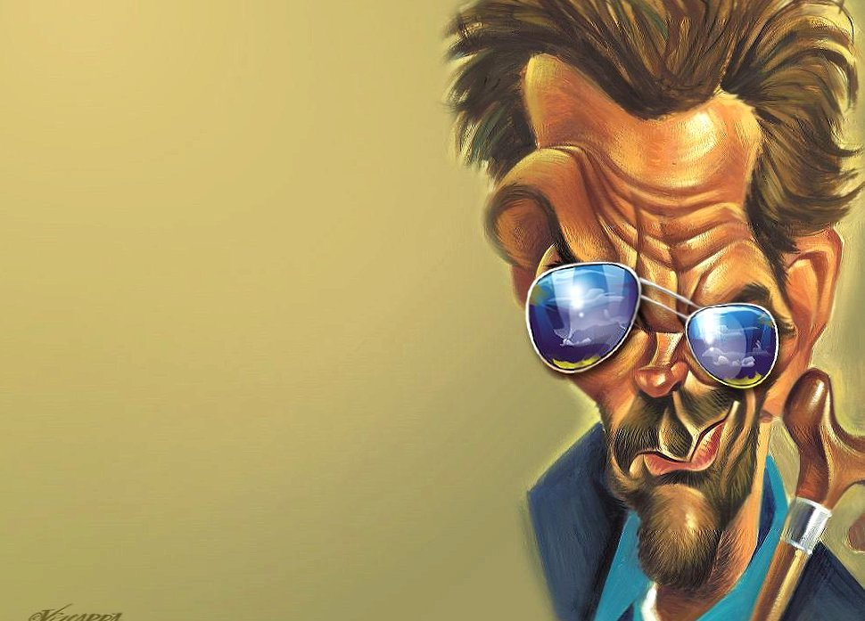 Funny dr house gregory caricature wallpapers HD quality