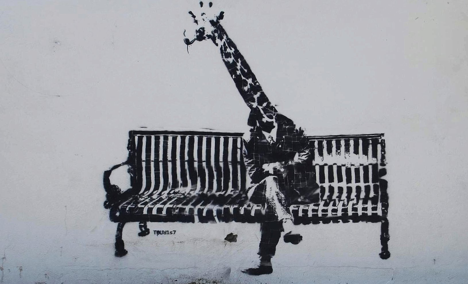 Funny giraffe style banksy wallpapers HD quality