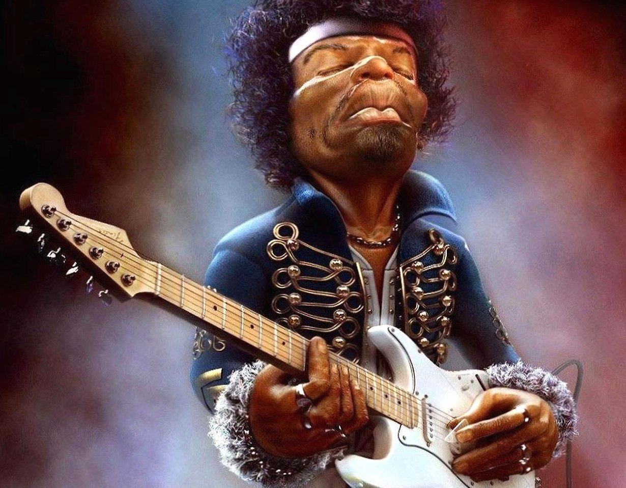 Funny jimi hendrix caricature wallpapers HD quality