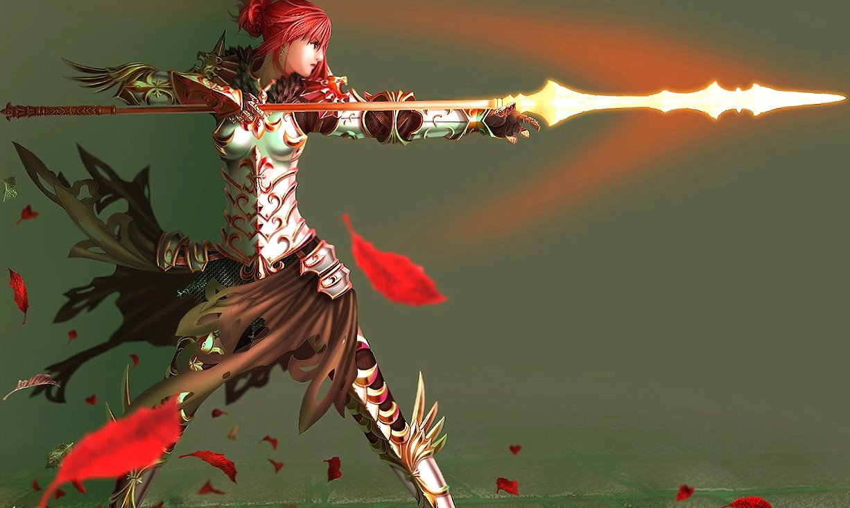 girl red hairs warrior wallpapers HD quality