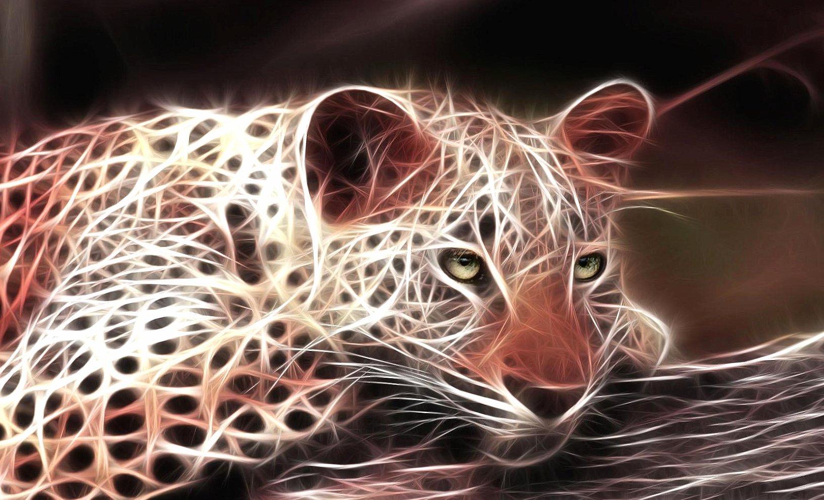 Jaguar digital light 3d wallpapers HD quality