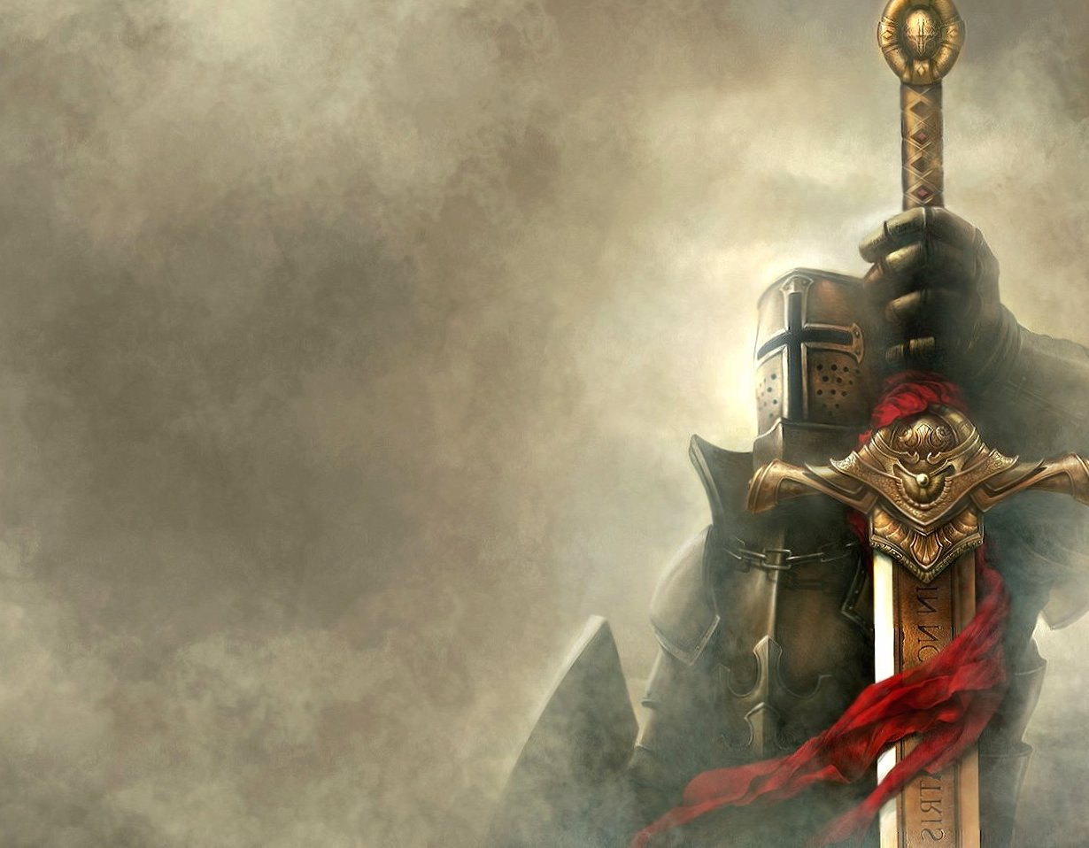 Knight on the fog wallpapers HD quality