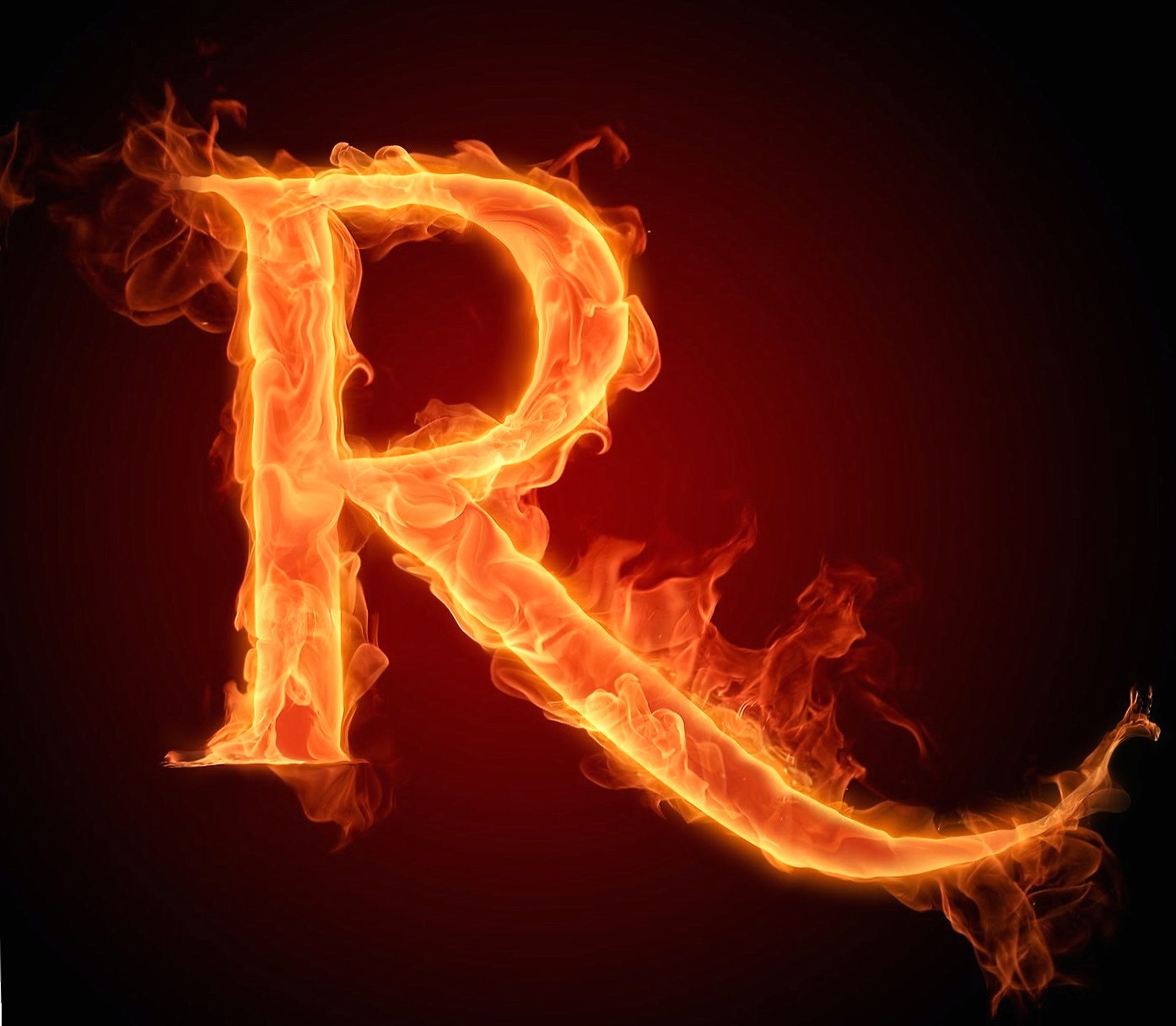 Letter R In Fire Hd wallpapers HD quality