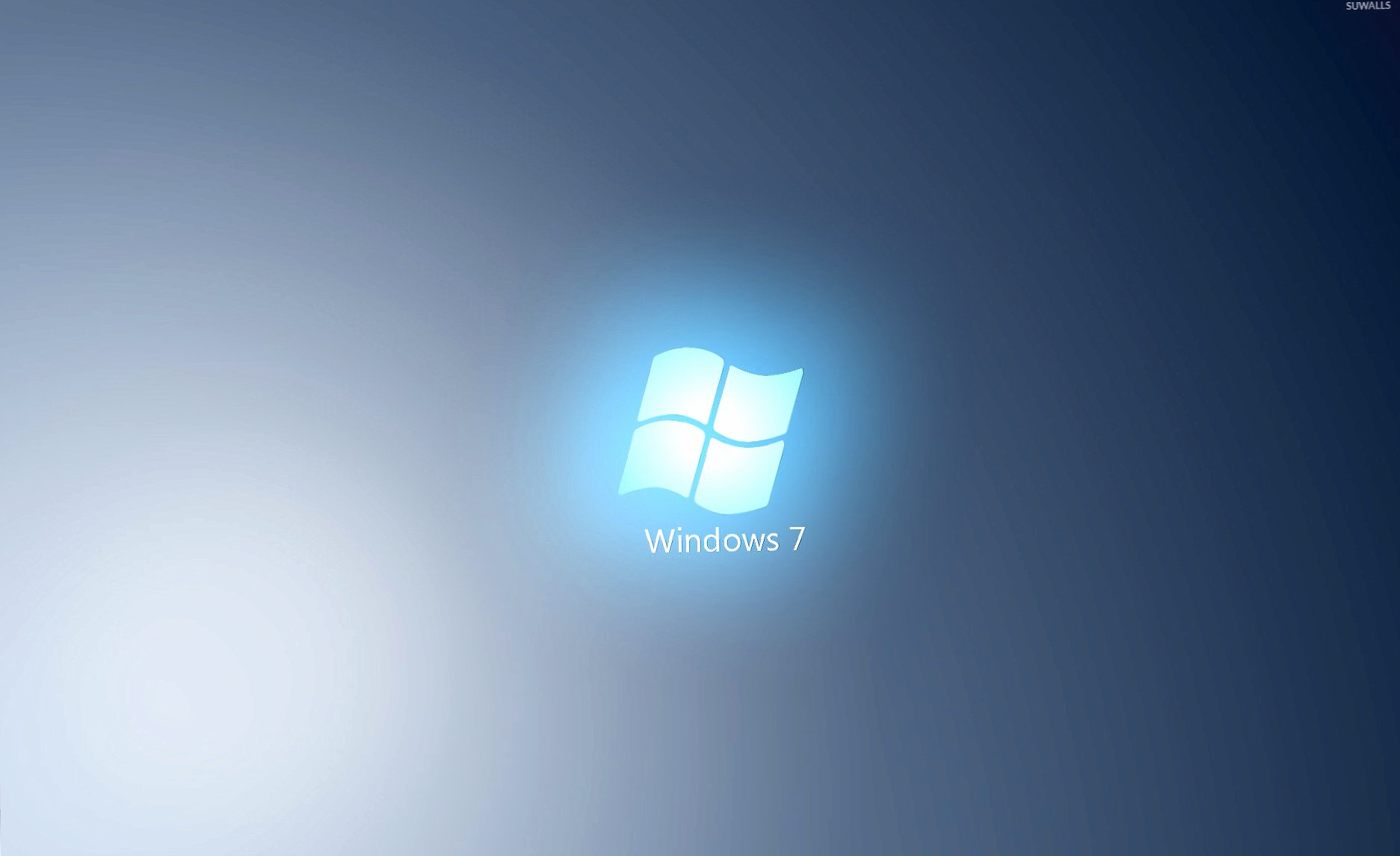 Light blue Windows 7 logo wallpapers HD quality