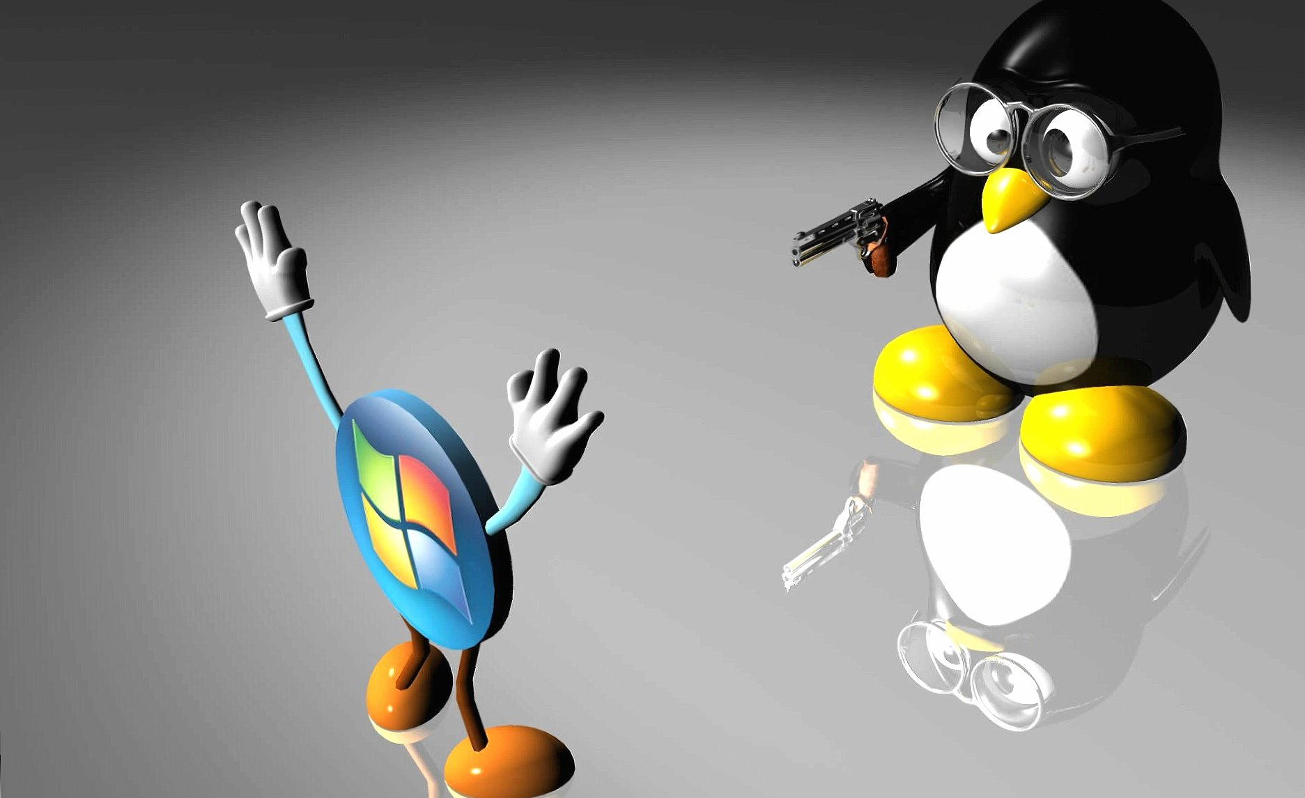 Linux vs windows wallpapers HD quality