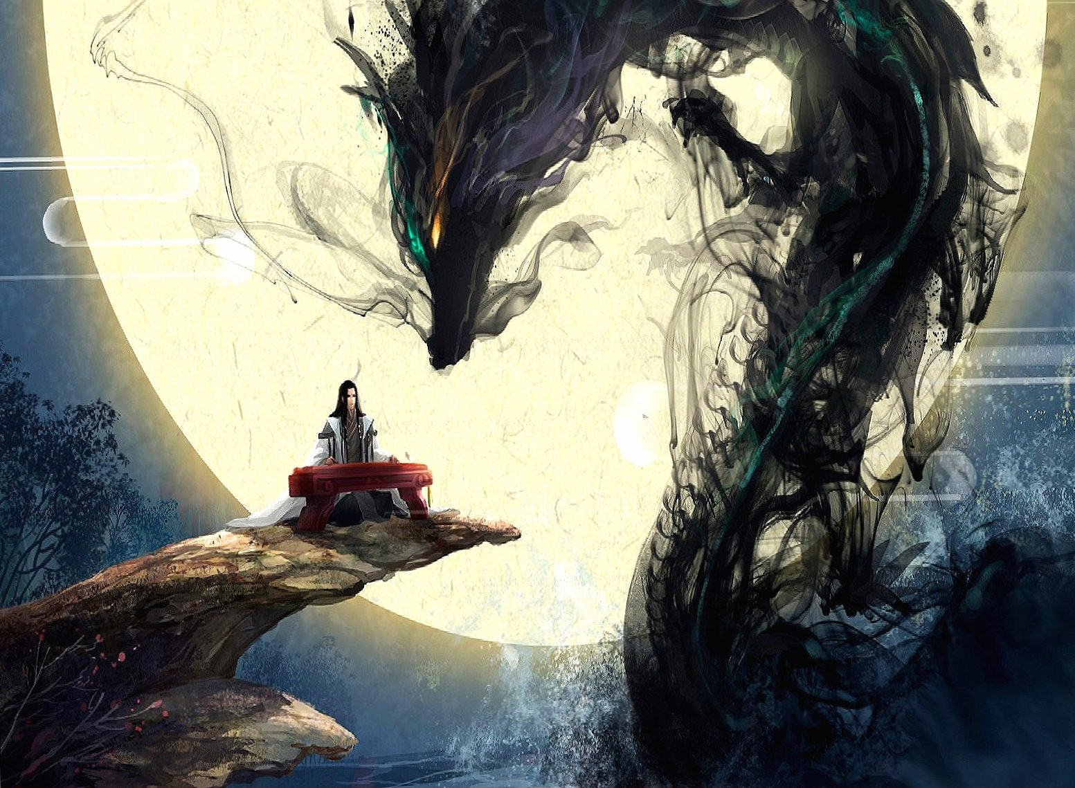 Music and black dragon wallpapers HD quality