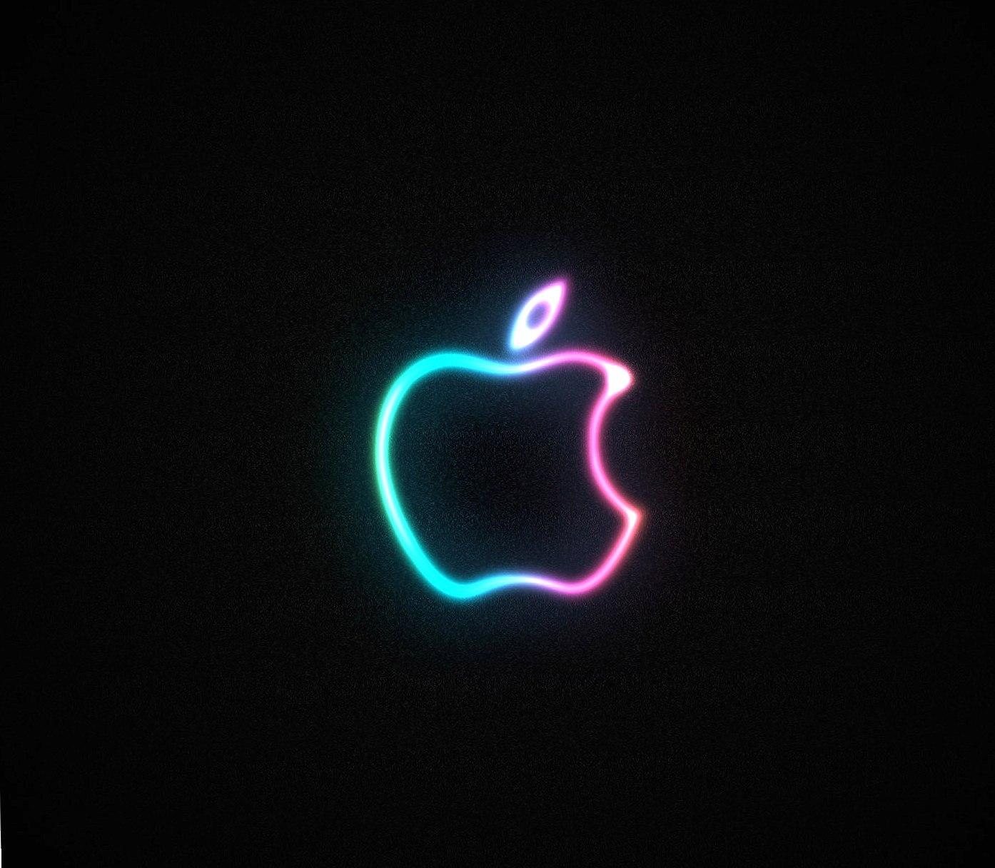 neon apple logo wallpapers HD quality