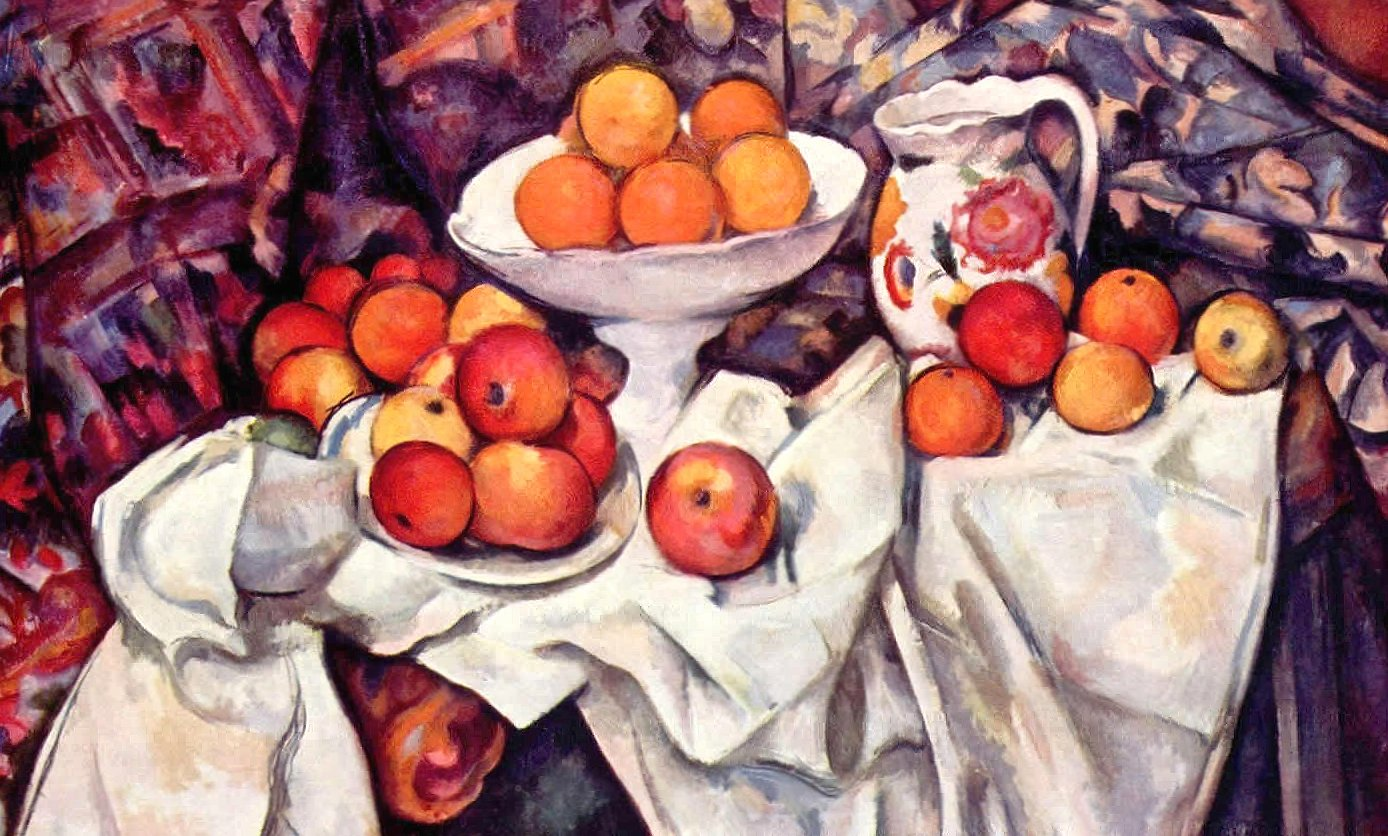 Paul cezanne still life with apples and oranges wallpapers HD quality