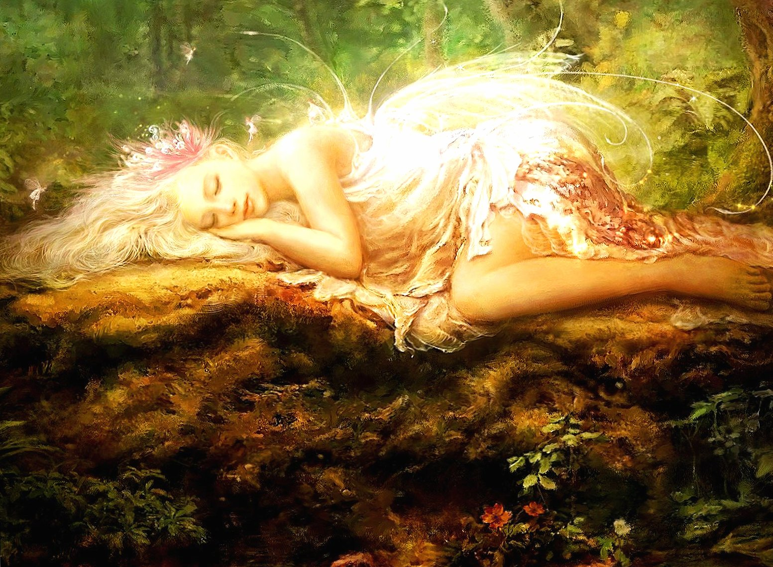 Sleeping sweet fairy wallpapers HD quality