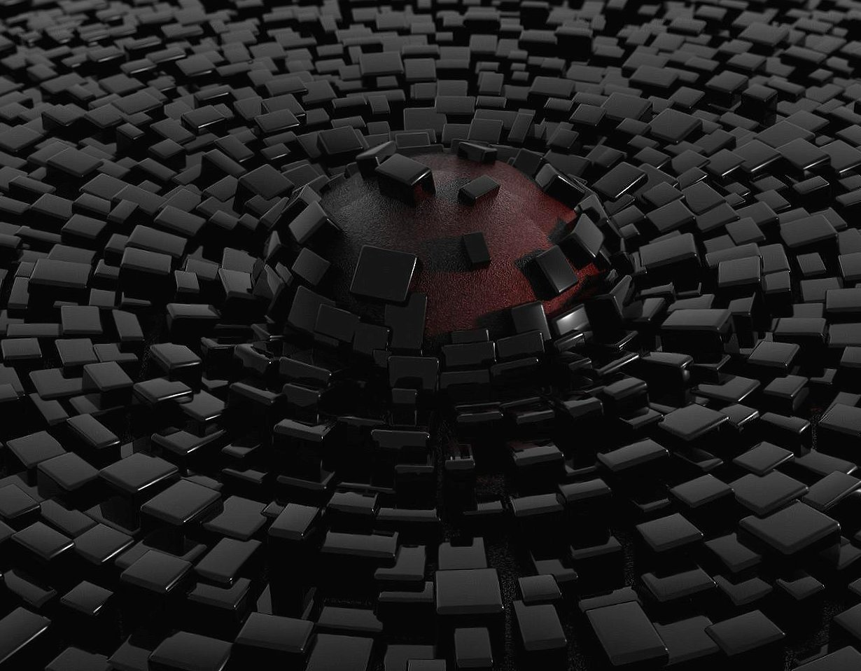 Sphere lava in a black tiled floor wallpapers HD quality