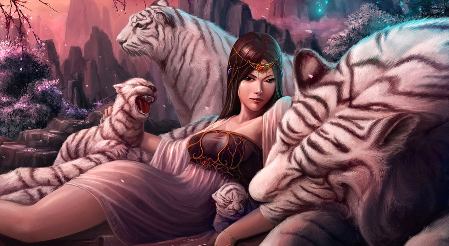 Tigers queen fantasy wallpapers HD quality
