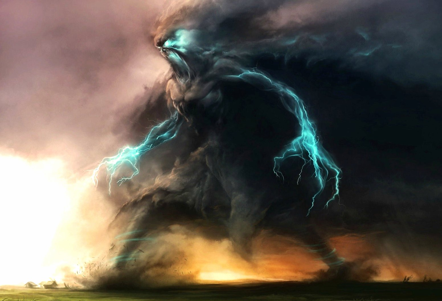 walking storm fantasy wallpapers HD quality