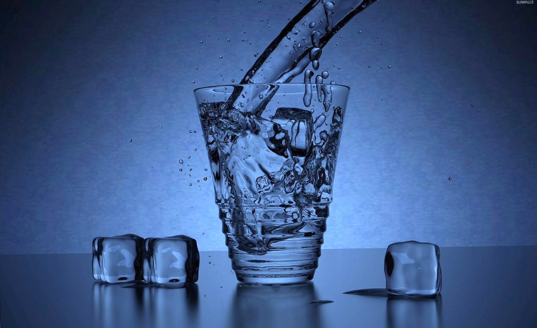 Water pouring in the glass wallpapers HD quality