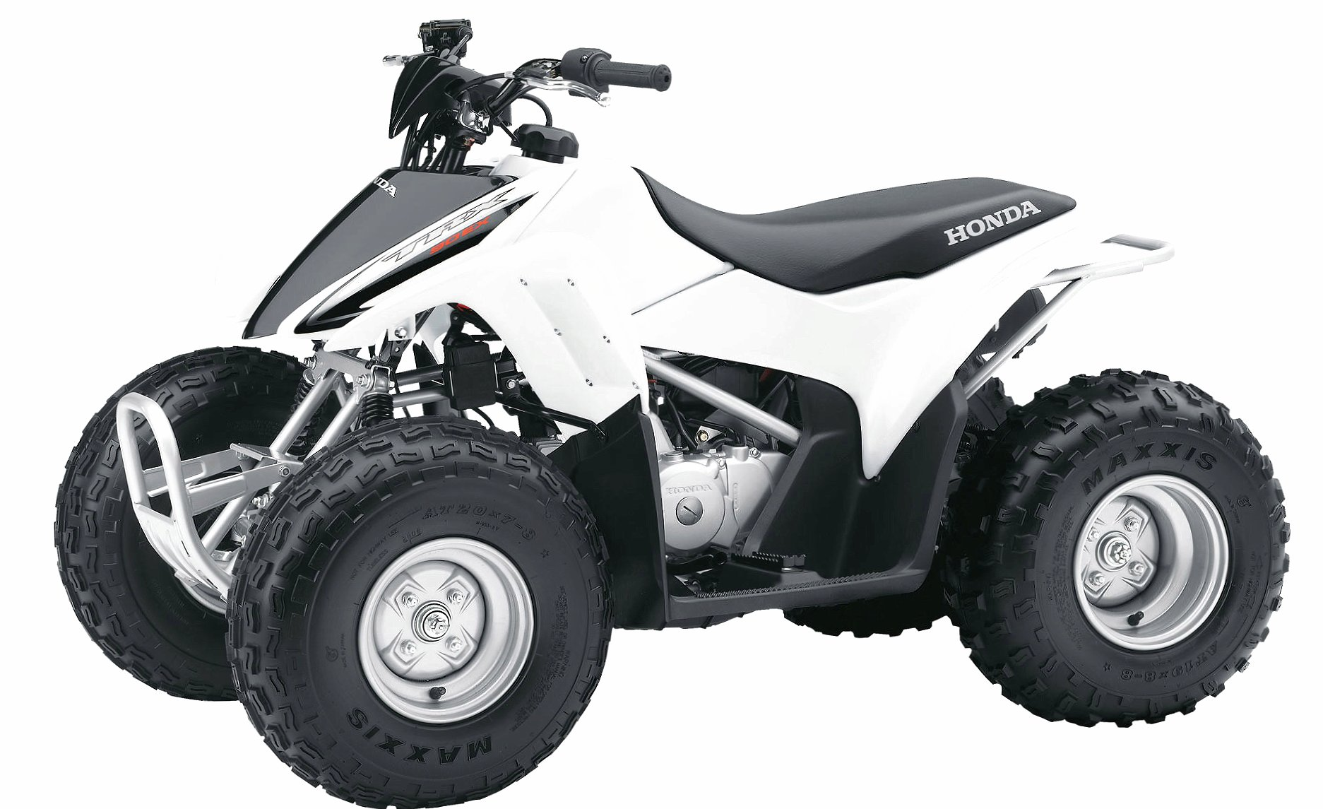 White Honda TRX90X front side view wallpapers HD quality